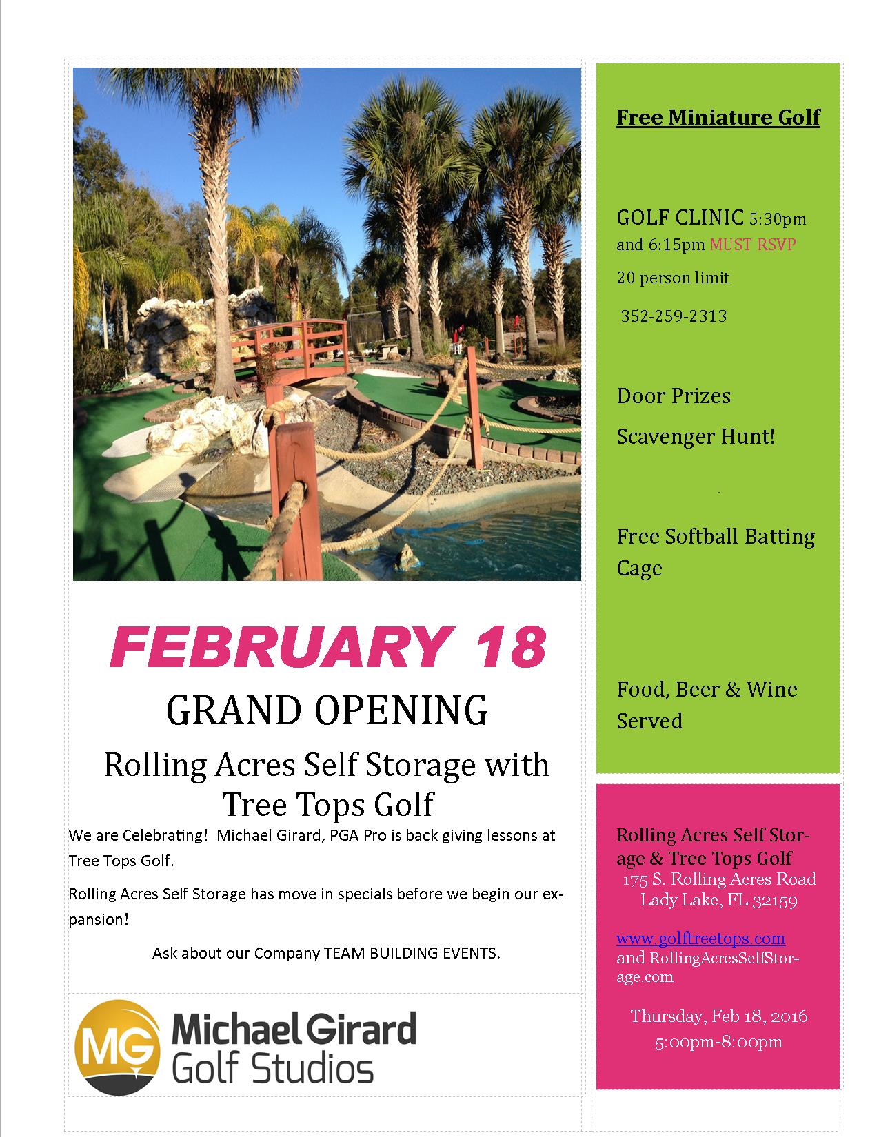 Treetop Golf and Rolling Acres Storage Business After Hours @ Tree Top Golf | Lady Lake | Florida | United States