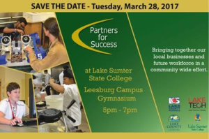 Partners for Success! Tuesday March 28 @ Lake Sumter State College Leesburg Campus